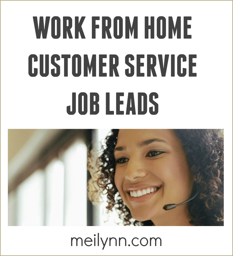 work from home customer service job full time